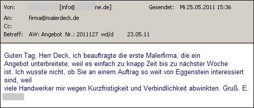 schlusssatz angebot absage - Deichmann Bewerbung